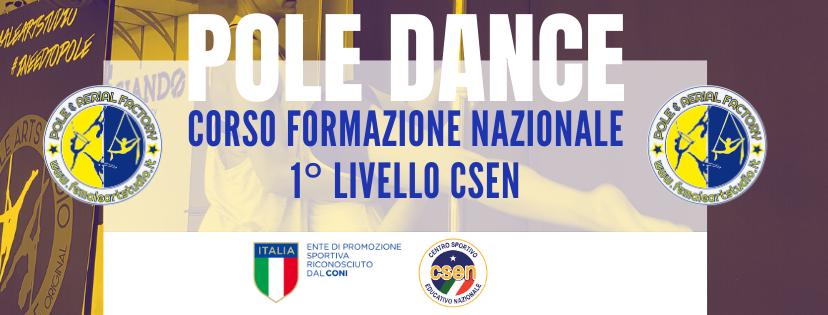 Corso Formazione  1° Livello Ginnastica Acrobatica specialità pole dance e  sport