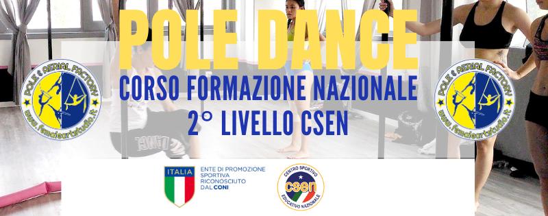 Corso di Formazione 2° Livello Ginnastica Acrobatica specialità Pole Dance